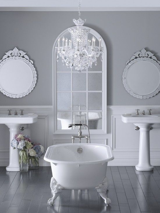 19 Lovely Feminine Glam Bathroom Design Ideas
