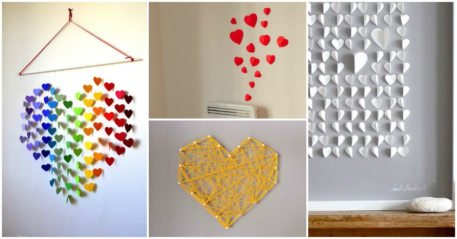 Diy Valentine Wall Decor : Outstanding diy wall art ideas for unforgettable
