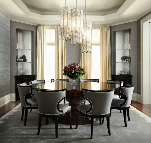 Modern Living Room Designs: 17 Classy Round Dining Table Design Ideas