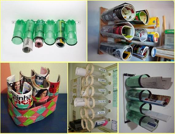 Top 25 newest truly fascinating diy old bottles reusing for Creative things out of waste