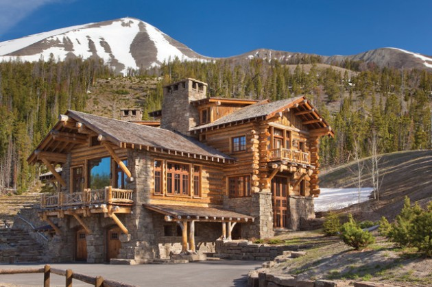 18 extravagant log house designs that will leave you Yellowstone log cabin hotel