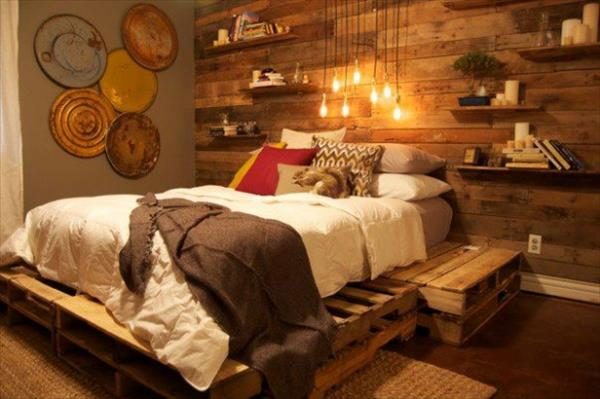 27 Insanely Genius DIY Pallet Bed Ideas That Will Leave ... on Pallet Bedroom Design  id=48460