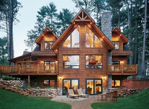 18 extravagant log house designs that will leave you