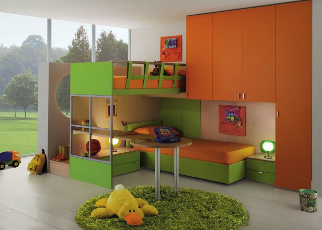 16 functional shared kids room ideas for two children for Kids bedroom designs