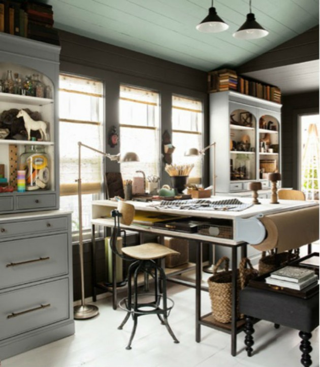 17 Phenomenal Industrial Home Office Design Ideas