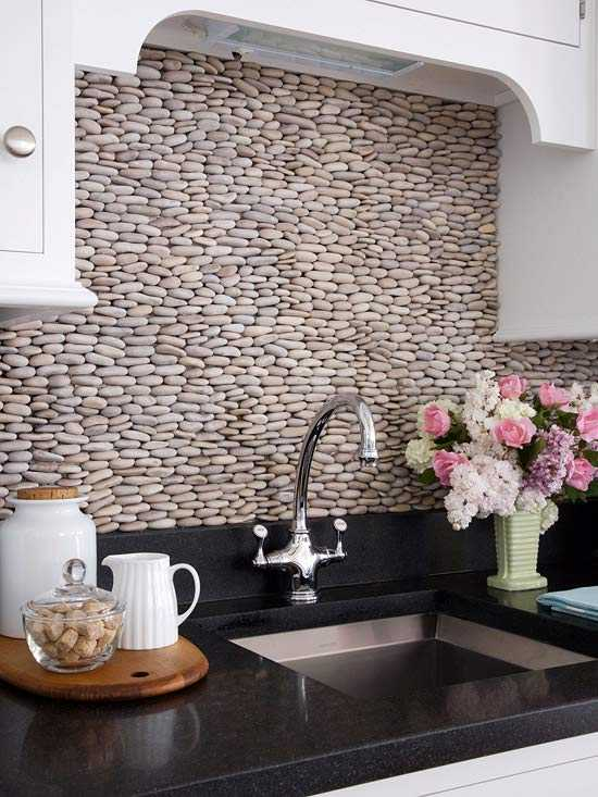 17 cool cheap diy kitchen backsplash ideas to revive for Kitchen cheap backsplash ideas