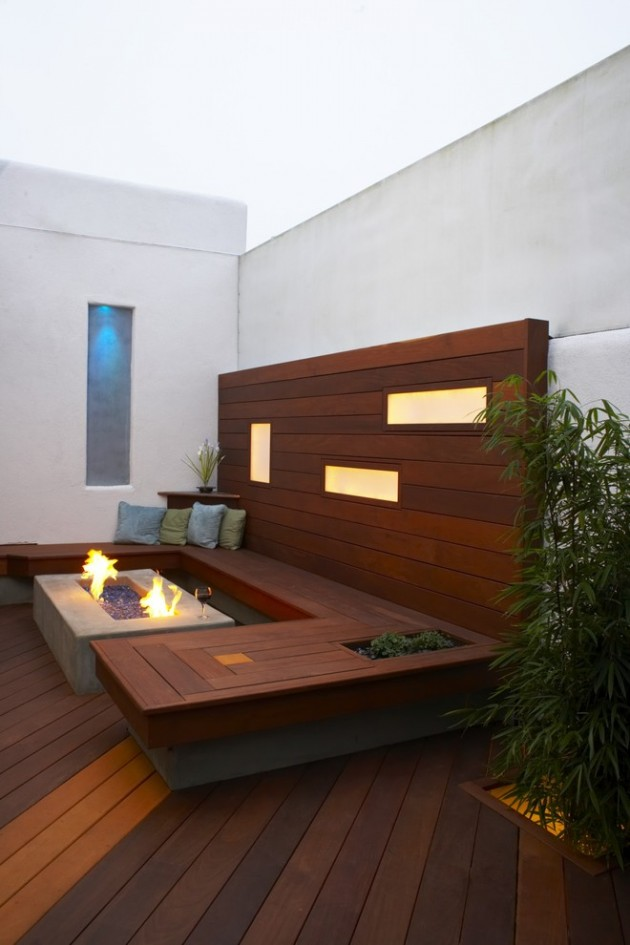 15 impressive modern deck designs for your backyard or rooftop for Small deck seating ideas
