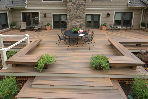 15 impressive modern deck designs for your backyard or rooftop for Garden decking designs pictures