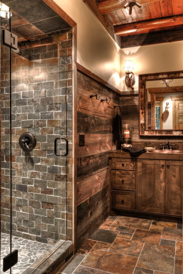 15 refined rustic bathroom designs for your rustic home for Small rustic bathroom designs