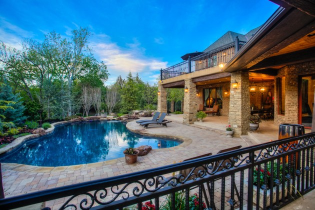 Pool Area Ideas Country