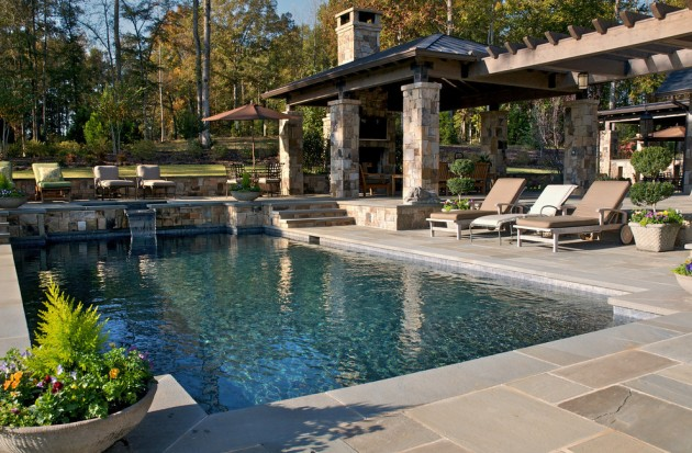 15 Splendid Rustic Swimming Pool Designs That Offer A