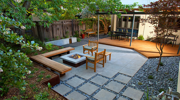 16 captivating modern landscape designs for a modern backyard for Modern decking materials