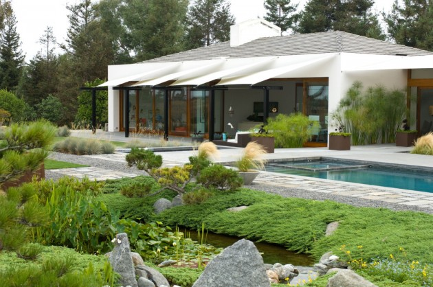 16 captivating modern landscape designs for a modern backyard for Modern backyard landscaping