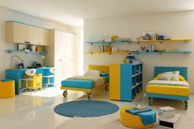 Children S And Kids Room Ideas Designs Inspiration: 16 Functional Shared Kids Room Ideas For Two Children