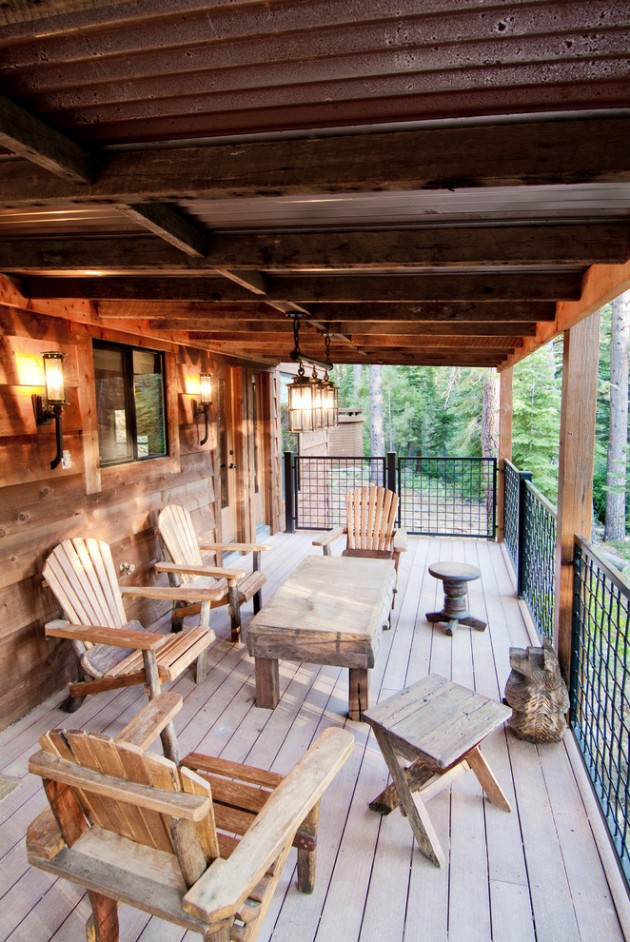 17 Charming Rustic Deck Designs That Offer The Ultimate ... on Garden Patio Decking Ideas id=95303