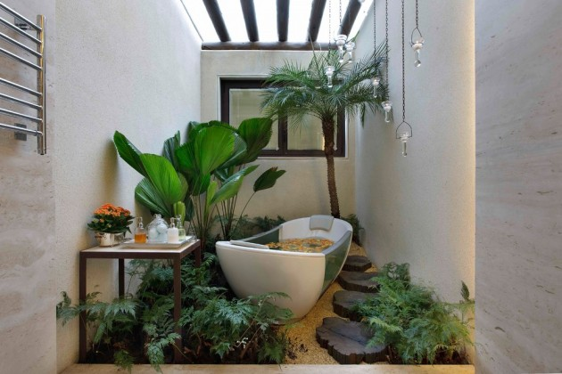 20 Relaxing Tropical Bathroom Designs To Make You Feel Like Being In Paradise