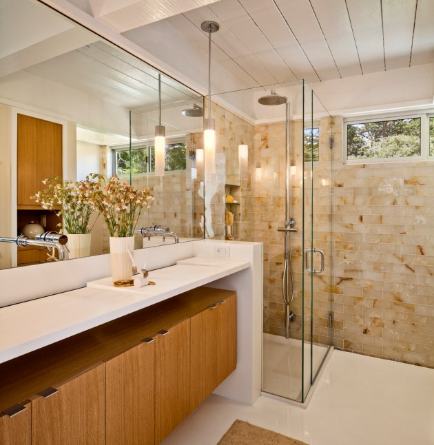 House Home Design: 20 Stylish Mid-Century Modern Bathroom Designs For A