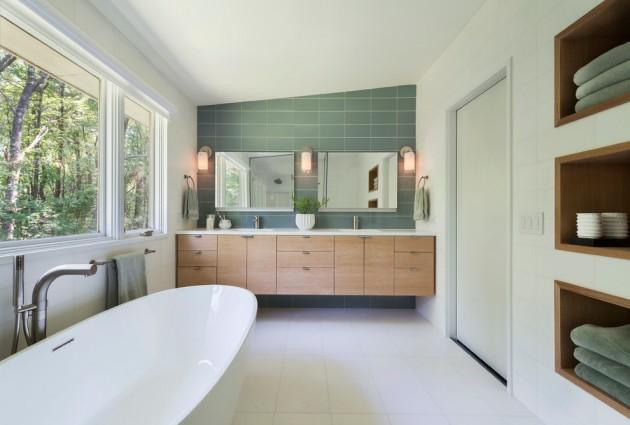 20 Stylish Mid-Century Modern Bathroom Designs For A Vintage Look