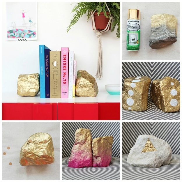 24 Fascinating DIY Bookends To Adorn Your Shelves