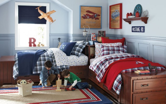 terrific kids bedroom ideas shared rooms | 16 Functional Shared Kids Room Ideas For Two Children
