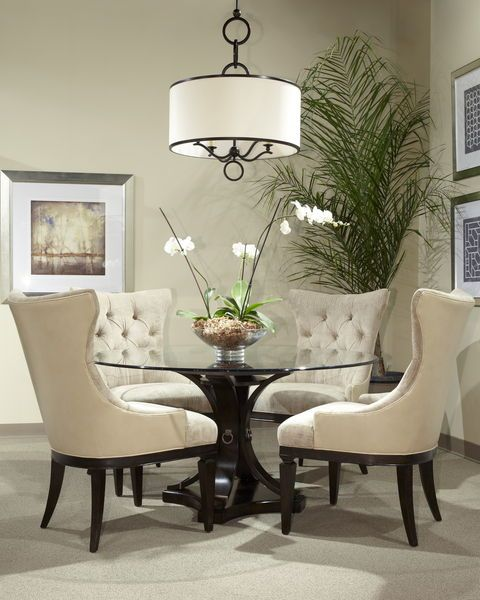 17 classy round dining table design ideas for Beautiful round dining tables