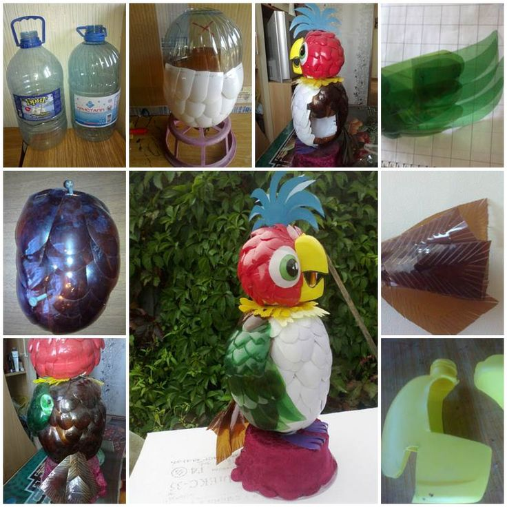 Подделки из бутылок пластиковых