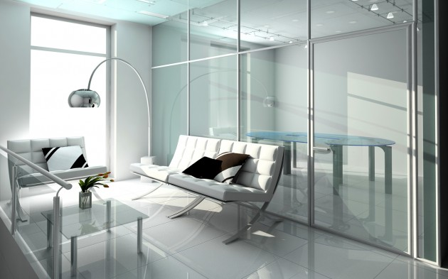 Glass In The Interior For Visually Larger And Brighter Space