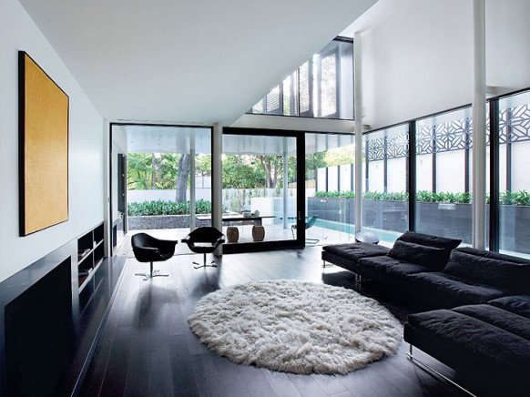 Living Room Ideas Dark Floors dramatic dark flooring design ideas