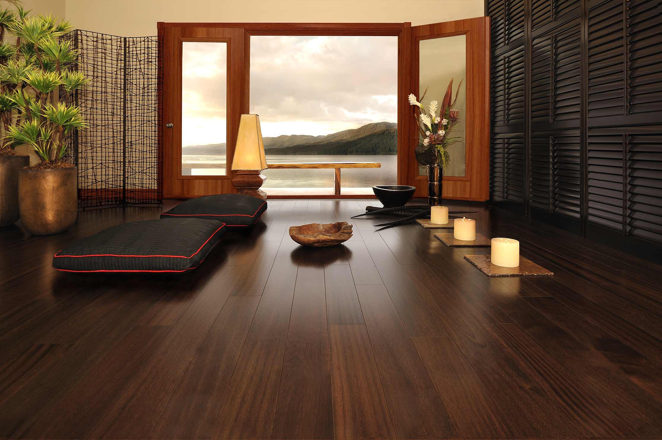 15 Dramatic Dark Flooring Design Ideas - ^