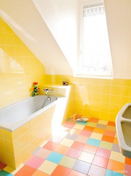 All Shades Of Yellow In Your Dream Bathroom