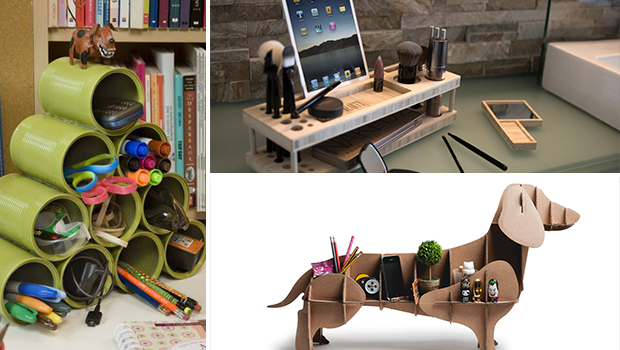 14 Creative & Practical DIY Desk Organization & Storage Ideas