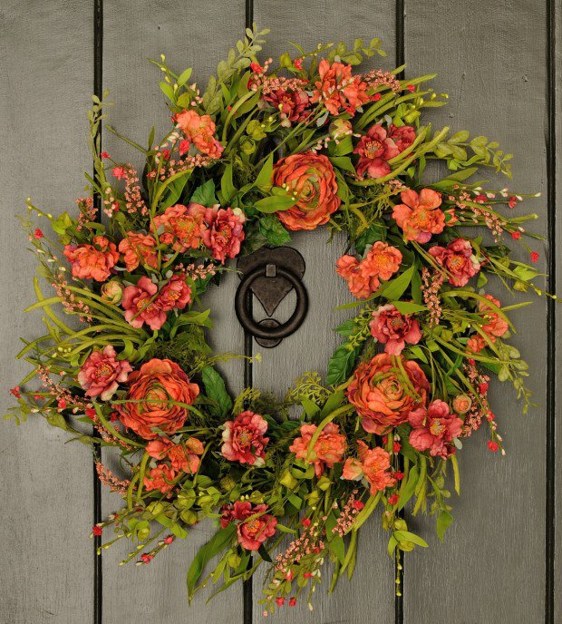 spring front door wreathsAdorable Handmade Spring Wreath Ideas To Adorn Your Front Door