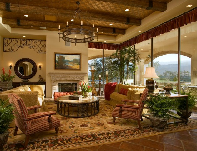 15 Gorgeous Mediterranean Family Room Designs Full Of