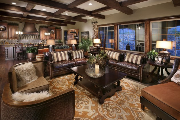 Gorgeous Mediterranean Family Room Designs Full Of Luxury Features