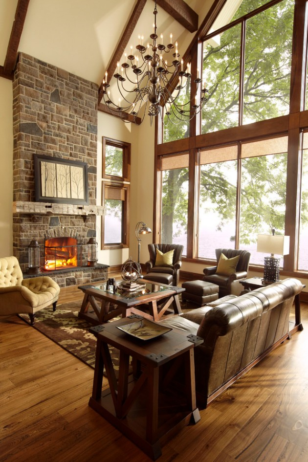 15 Heavenly Rustic Family Room Designs You Cant Not Enjoy