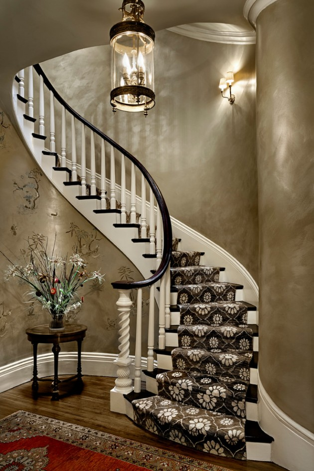 Painted Black And White Stairs