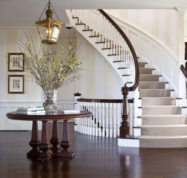 Beautiful Interior Staircase Ideas And Newel Post Designs: 16 Elegant Traditional Staircase Designs That Will Amaze You