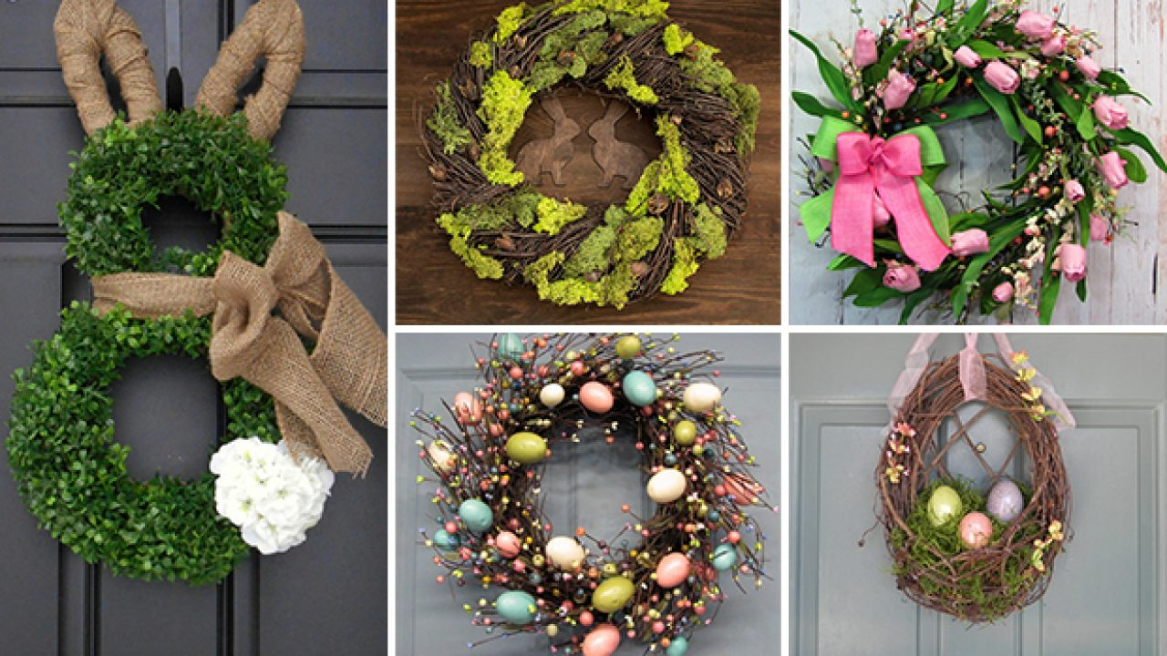 16 Welcoming Handmade Easter Wreath Ideas You Can Diy To