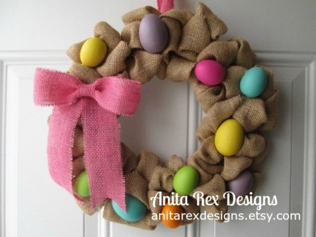 Wreath Design Ideas 15 joyful handmade spring wreath ideas to decorate your front door 16 Welcoming Handmade Easter Wreath Ideas You Can Diy To Decorate Your Entry