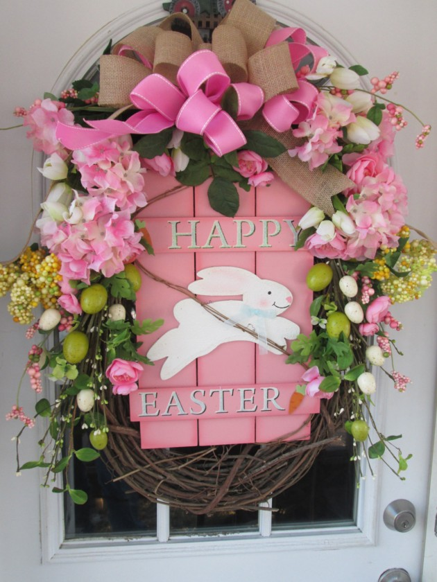 16 Welcoming Handmade Easter Wreath Ideas You Can DIY To Decorate Your Entry