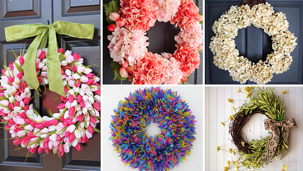 17 Refreshing Handmade Spring Wreath Ideas You Could Easily DIY
