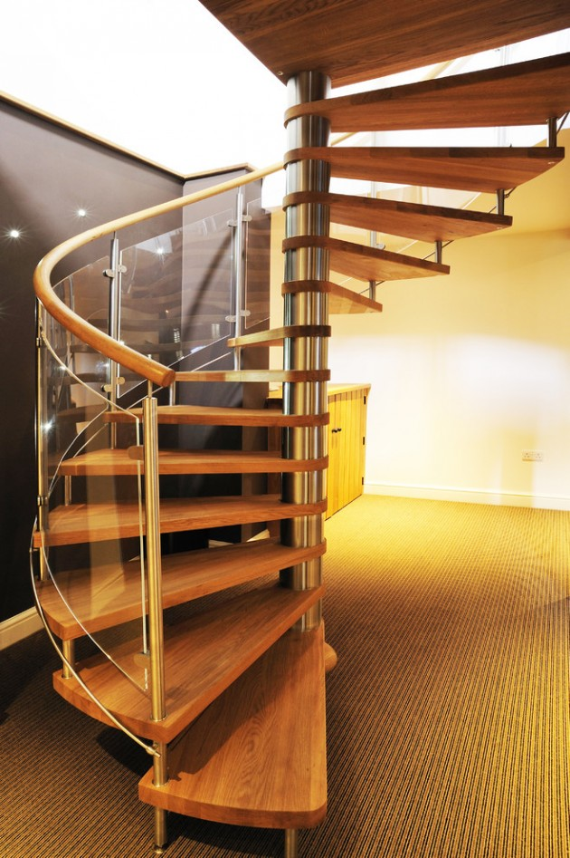 17 splendid rustic staircase designs to inspire you with ideas for Curved stair case
