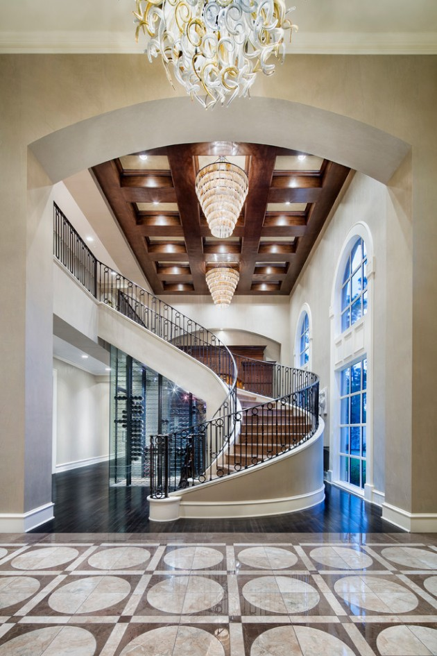 Foyer Staircase Designs : Palatial mediterranean staircase designs that redefine
