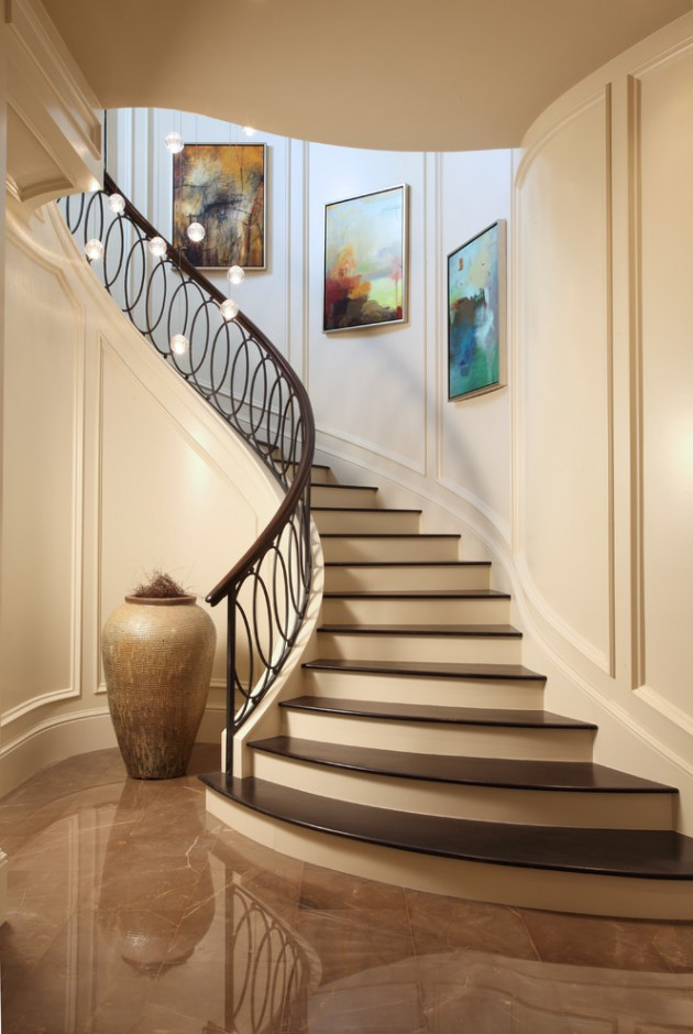 18 palatial mediterranean staircase designs that redefine for Curved staircase design plans