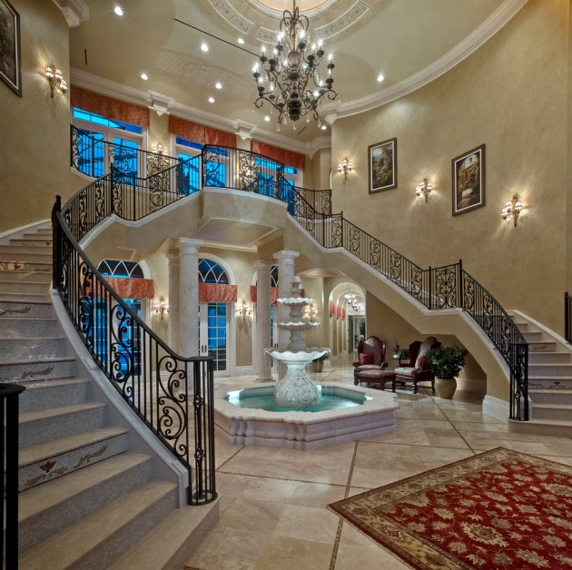 18 Extremely Luxury Mediterranean Home Designs That Will: 18 Palatial Mediterranean Staircase Designs That Redefine