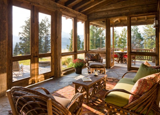 18 spectacular rustic porch designs every rustic house for Rustic house plans with porches