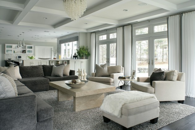 Contemporary Family Room Designs