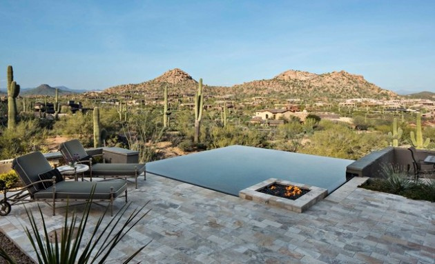 20 Sophisticated Outdoor Fire Pit Designs Near The Swimming Pool
