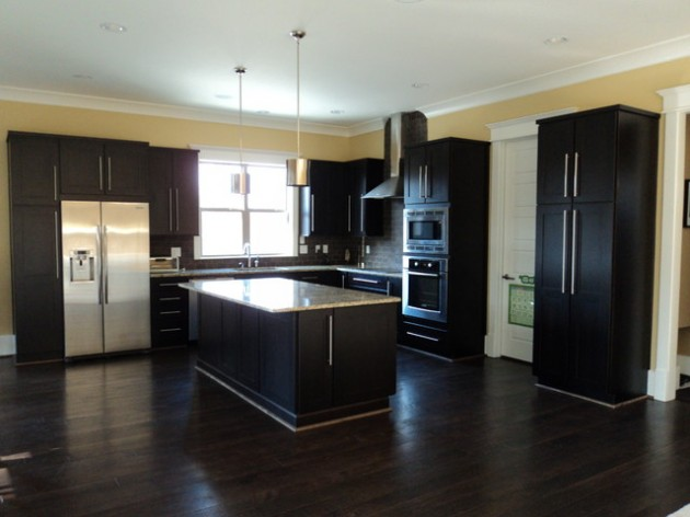 Kitchen Design Ideas Dark Floors dramatic dark flooring design ideas