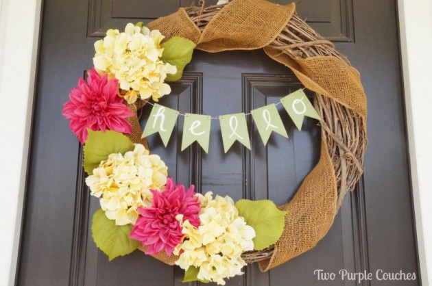 16 Adorable Handmade Spring Wreath Ideas To Adorn Your Front Door
